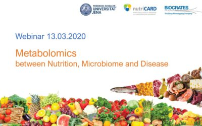 Webinar report – Metabolomics, Nutrition, Microbiome