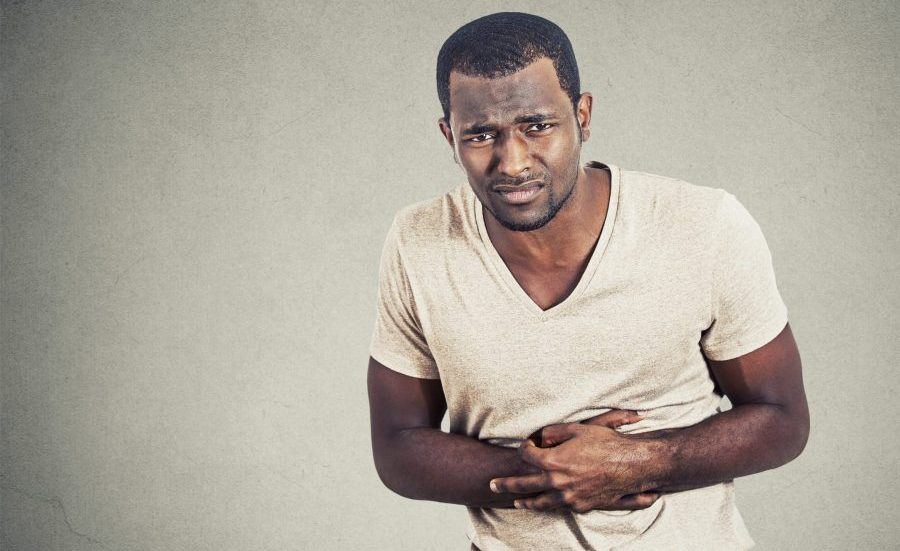 Man with Irritable bowel syndrome